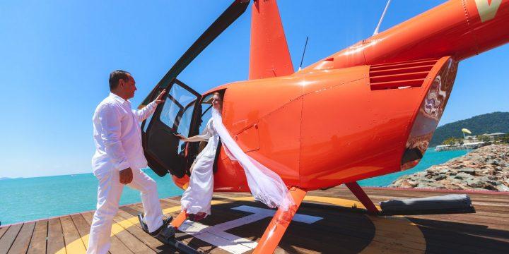 Wedding helicopter flight