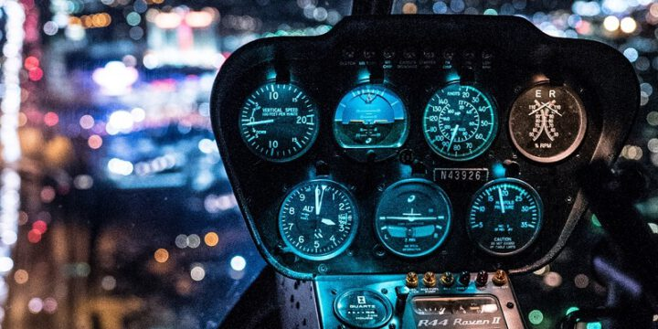 Night helicopter flight
