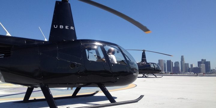 Uber launched a helicopter taxi in New York