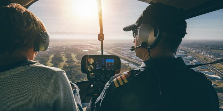 Gift helicopter flight